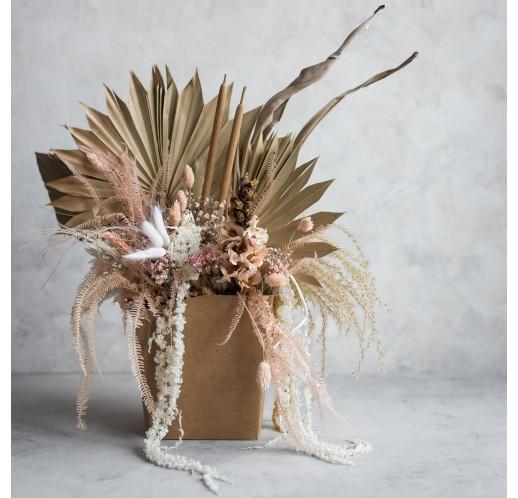 Flower pot boho palm